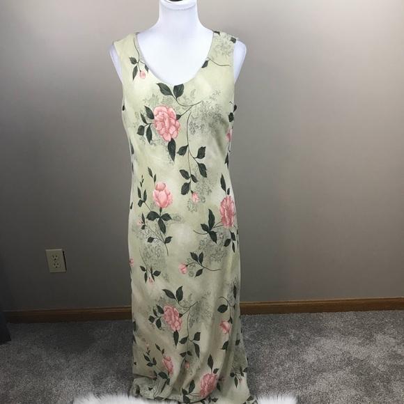 Dress Barn Dresses & Skirts - Dress Barn Green Floral Maxi Dress